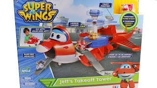 Super Wings Jett's Takeoff Tower Playset Unboxing Toy Review
