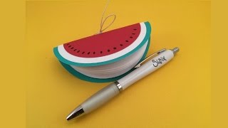 Libreta sandía. Tutorial para Sizzix. Watermelon notebook. Sizzix tutorial