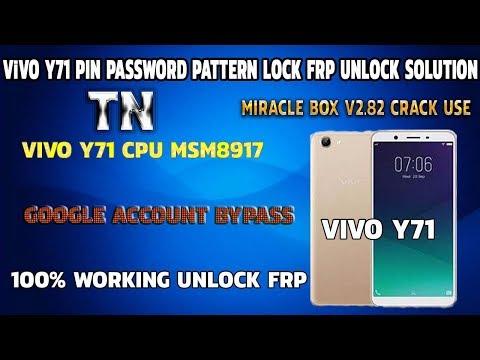Vivo Y71 Pin Screen Lock Pattern Password Frp Unlock Solution 100