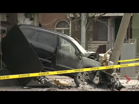 Vehicle ends up inside Toronto convenience store after collision
