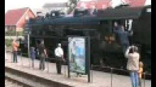 preview picture of video 'DSB Steam locomotive E 991 Ry - Silkeborg in Denmark'