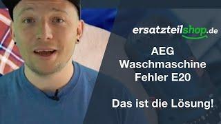 AEG Waschmaschine e20 - pumpt nicht ab