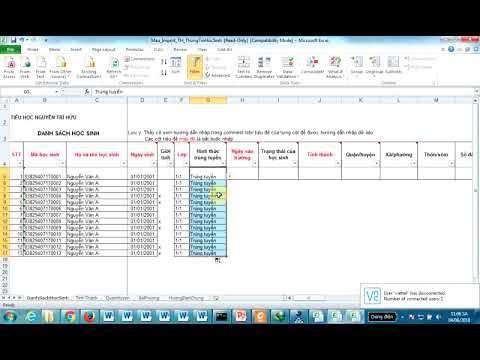 Hướng dẫn import dữ liệu khối tiểu học và thcs