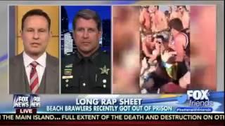 Fox & Friends - Beach Brawl: Officer Takes Down Drunken Spring Breakers