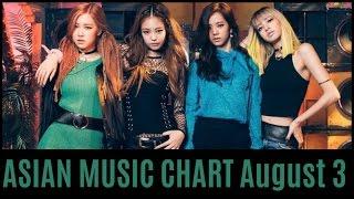 ASIAN MUSIC CHART August 2016 Week 3