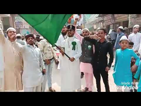 Barhwi Ka Chand aaya Shaheed Nagar juloos Big Jhanda 2019 Altamash Gulame Panjatan