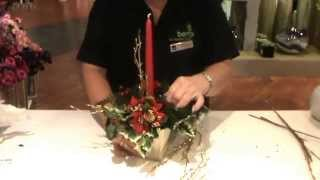 How To Make A Christmas Table Arrangement With Jeannine