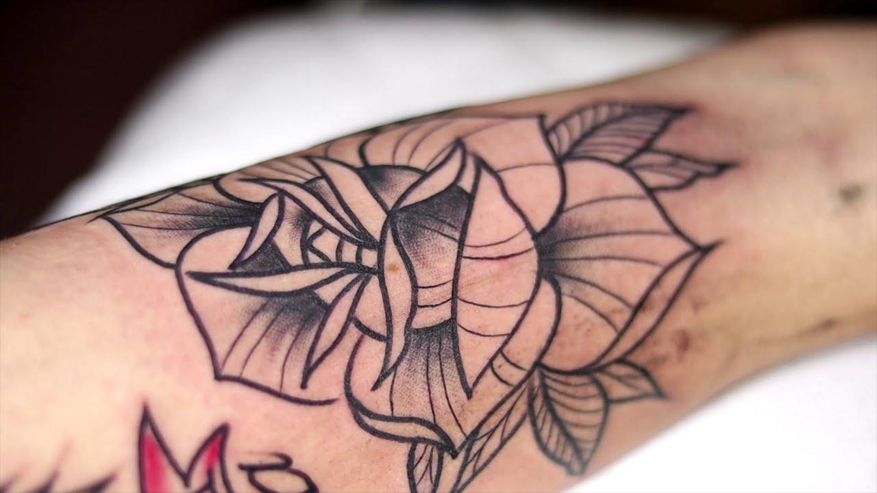 rose tattoo color by yeliz gunay dovme studyosu