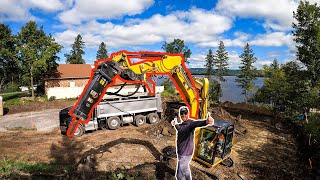 We bought a hammer attachment for our excavator