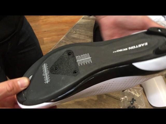 Видео Велотуфли Giro Factor Techlace бело-черные