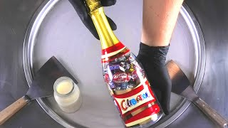 Chocolate Ice Cream Rolls   Ice Cream with Snickers, Mars, Twix, Milky Way, Maltesers and Bounty Bar