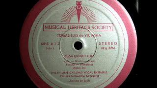 Victoria / Philippe Caillard Ensemble, 1963: Missa Quarti Toni (Complete)