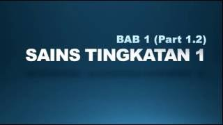 Nota Sains Tingkatan 1 (Bab 1) Part 1 of 2