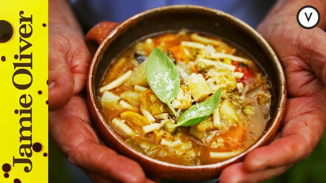 Italian minestrone soup