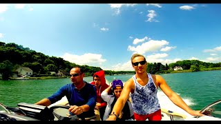 preview picture of video 'Boat Day Ski & Wake Session Corbeil 2014 HD #GoPro'