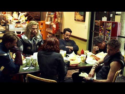 The Avengers (2012) | Filming Shawarma Scene.