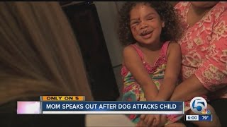 5-year-old girl bitten by neighbor's dog, family pet pitbull helped save her from the attack