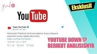 YouTube Dikeluhkan Tidak Dapat Diakses Pagi Ini