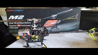 FPV Drone Racer Flying an OMPHobby M2 Direct Drive Helicopter LOS