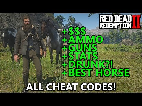 Red Dead Redemption 2 - All Cheat Codes (Infinite Money Max Ammo Spawn War  Horse Best Stats etc) - Maka91Productions