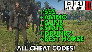 Red Dead Redemption 2 - All Cheat Codes (Infinite Money, Max Ammo, Spawn War Horse, Best Stats, etc)