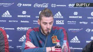 Пресс-конференция главного тренера сборной Испании по футболу перед игрой с Россией