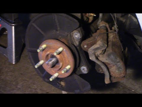 Front wheel bearing with ABS replacement done on a 2009 Pontiac G6