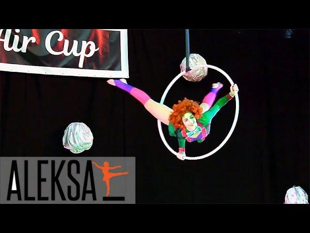 Воздушное кольцо - воздушная гимнастика. Соня Корниенко, тренер ALEKSA Studio. Танец на кольце.
