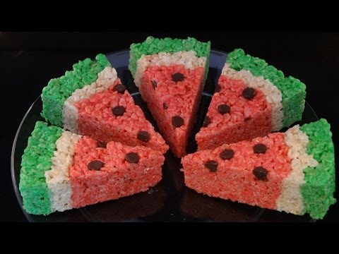 Watermelon Rice Krispies Treats - with yoyomax12
