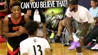 Bronny James SQUAD GETS HEATED! LeBron Can't Believe Dior & Devontes CONNECTION!
