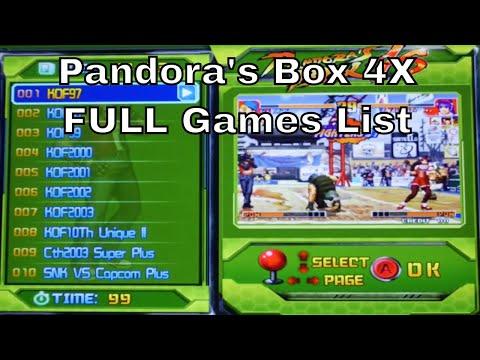 Pandora\'s Box 4X FULL Games List 800 in 1