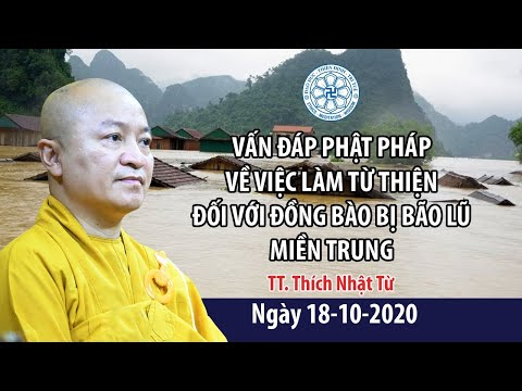 Vấn đáp Phật pháp về việc làm từ thiện với đồng bào bão lũ miền Trung