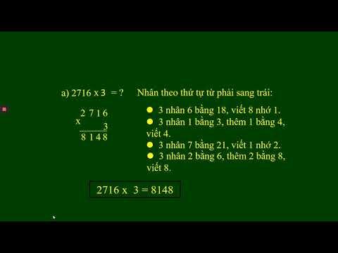 TOÁN 3 BÀI 62 Nhân số cố bốn chữ số với số có một chữ số