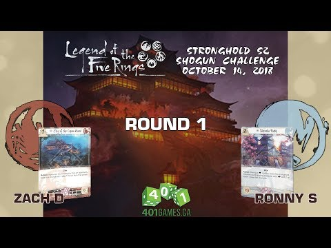 Legend of the Five Rings – Round 1 | S2 Shogun Challenge 2018