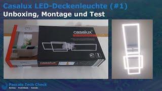 Casalux LED-Deckenleuchte (#1) Aldi    Unboxing, Montage und Test - Design Lampe (eckig und lang)