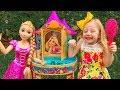 Nastya plays with a magic beauty Rapunzel's salon  doll