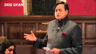 Shashi tharoor reminded Britain in oxford university