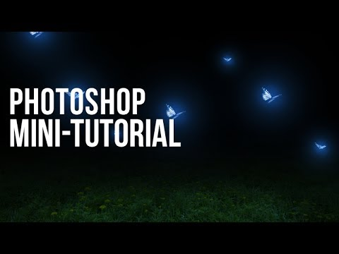 Photoshop Mini-Tutorial: Glowing Butterflies