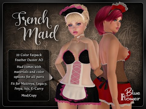 Blue Flower - French Maid Dress