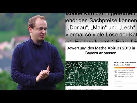 Mathe-Abi 2019 in Bayern zu schwer?