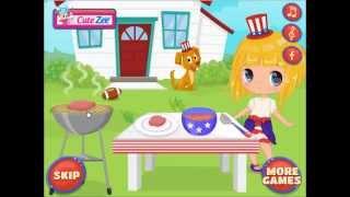 CuteZee game for girls: Baby Around The World: USA