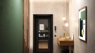 Преимущества большого зеркала на входной двери