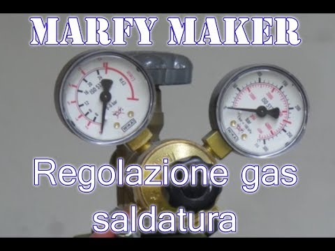 Regolazione gas saldatura a filo continuo (Welding gas regulation DIY)