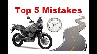 Top 5 Common Mistakes on a Long Motorcycle Trip - How to avoid them?