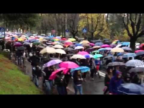 La manifestazione degli studenti varesini