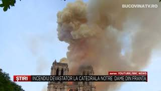 Incendiu Devastator La Catedrala Notre Dame Din Franta