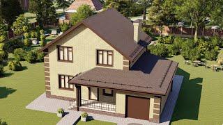 Проект дома 146-D, Площадь дома: 146 м2, Размер дома:  13x11,1 м