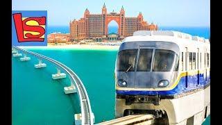 Монорельс и Железная дорога в ОАЭ к Отелю Атлантис Пальма в море   Day #4