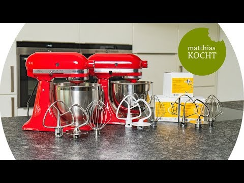 Kitchenaid KSM185 - Neuerungen, Edelstahl-Rühraufsätze und Vergleich