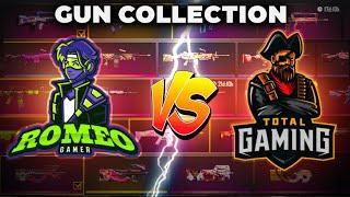 Total Gaming (Ajjubhai) Vs Romeo Gamer Gun Collection- Who Will Win?- Garena Free Fire